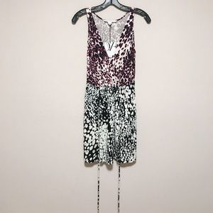 Dvf oblixe dress leopard rain spots combo